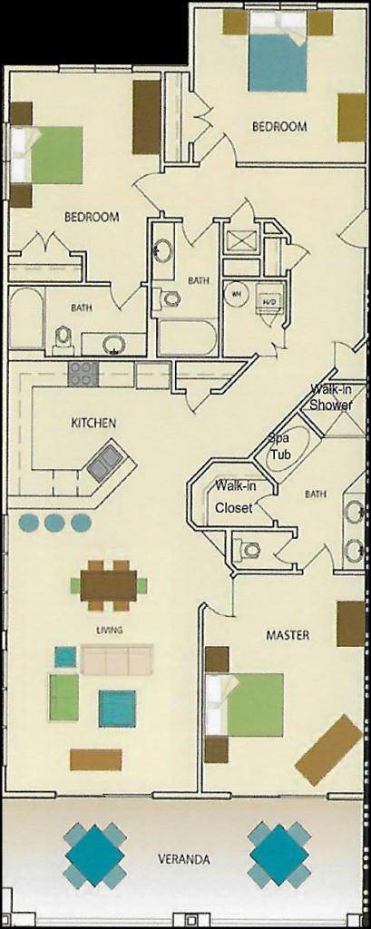 Wolf Bay Landing Condominium 3 bedroom 3 bath