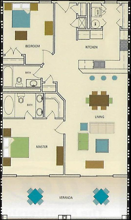 Wolf Bay Landing Condominium 2 bedroom 2 bath